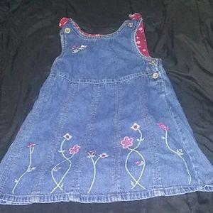 Girls Jean dress size 4t